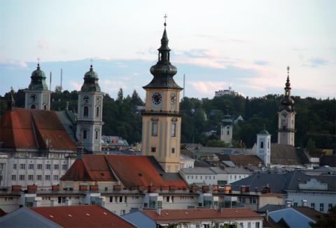 Линц. Вид на город