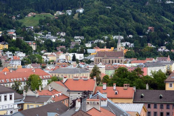 Инсбрук - вид на город