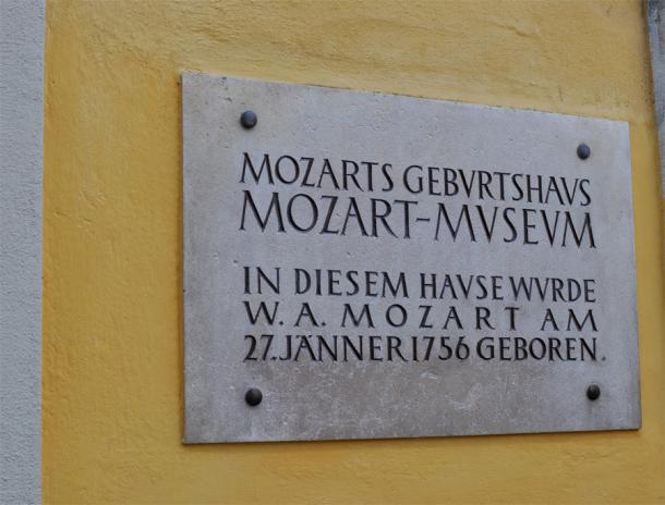 В этом доме родился Моцарт